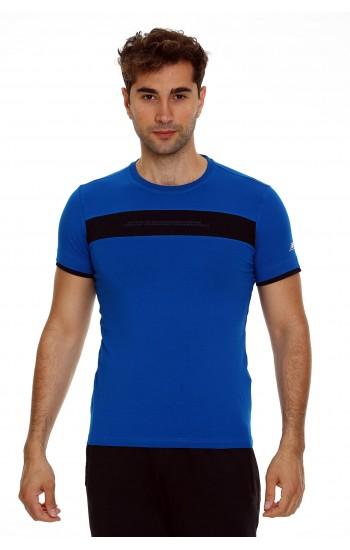 Мъжка Памучна Тениска в Синьо
