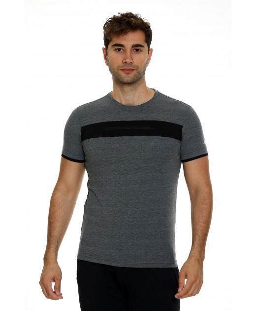 Мъжка Памучна Тениска в Сиво