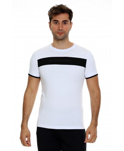 Мъжка Памучна Тениска в Бяло