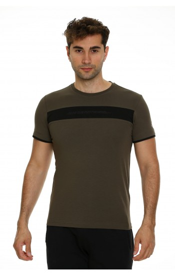 Мъжка Памучна Тениска в Тъмно Зелено