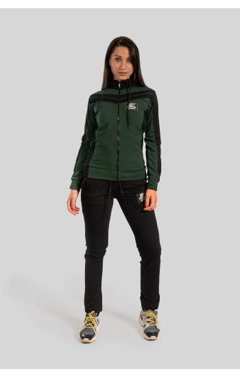 Дамски спортен анцуг BorianaSport тъмно зелено
