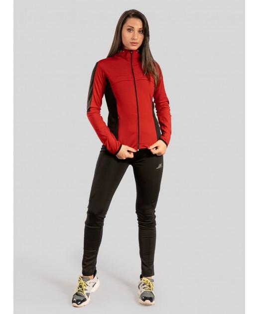 Дамски Екип BorianaSport в Цвят Червено с Черно