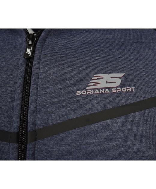 Ватиран Мъжки  Екип BorianaSport Тъмно Синьо с Графит
