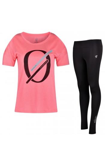 Дамски Комплект Speedlife с Тениска в Цвят Диня