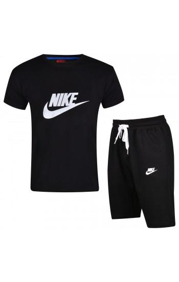 Спортен Мъжки Къс Комплект Nike в Черно