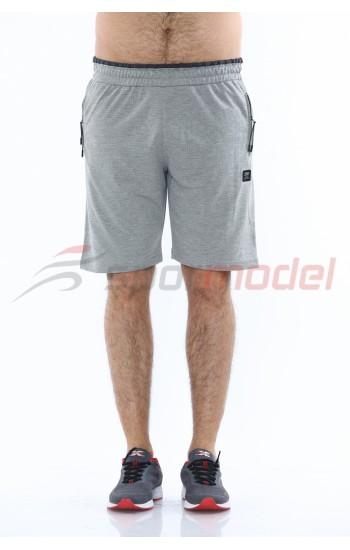 MXCSPORT Мъжки Къси Панталони Светло Сиво